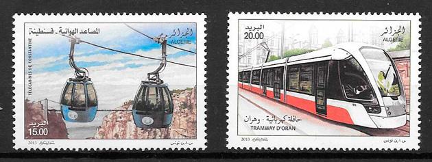 sellos trenes Argelia 2013