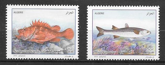 filatelia fauna Argelia 2016