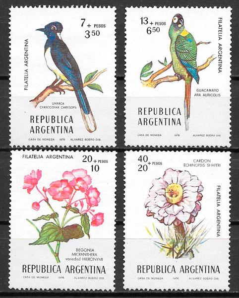 filatelia fauna y flora Argentina 1976