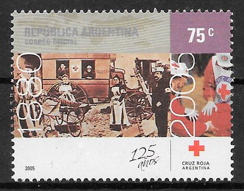 filatelia cruz roja Argentina 2005