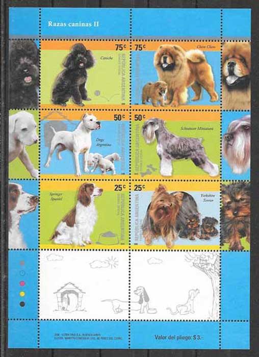 colección sellos gatos y perros Argentina 2006