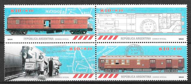 sellos trenes Argentina 2016