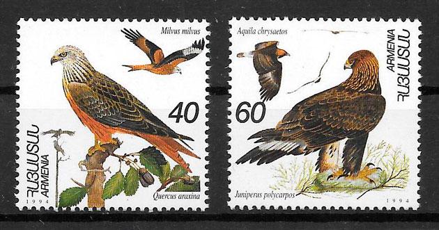 filatelia fauna Armenia 1995