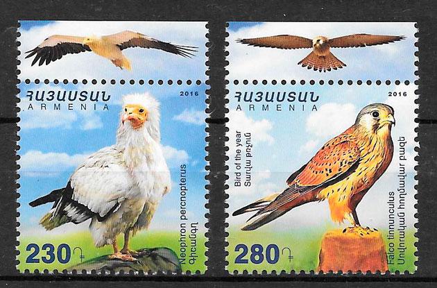 filatelia fauna Armenia 2016