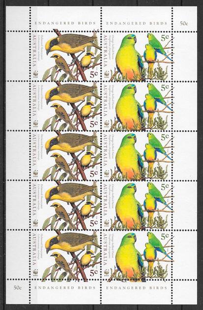 sellos fauna wwf Australia 1998