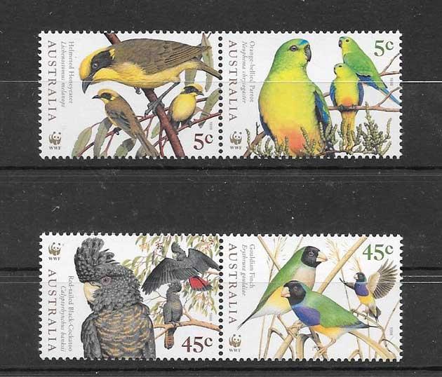 Estampillas protección fauna Australia 1998