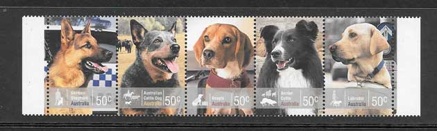 Sellos diversidad perros trabajadores Australia