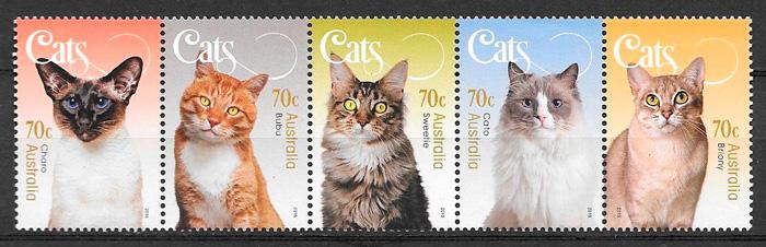filatelia gatos y perros Australia 2015