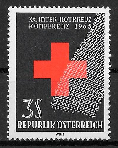 selos cruz roja Austria 1965