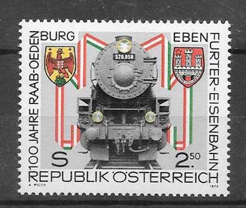 Colección sellos Tren de Austria 1979