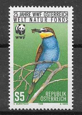Colección sellos Austria-1988-01