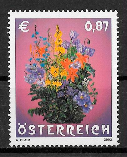 sellos flora Austria 2002