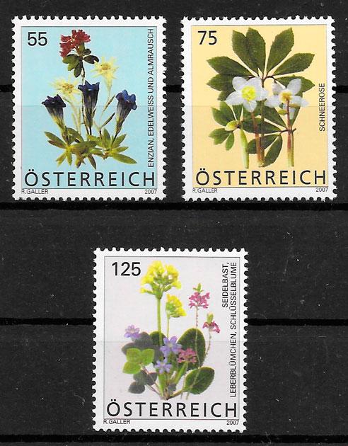 colección sellos flora Austria 2007