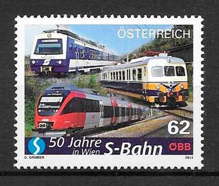 sellos trenes Austria 2012