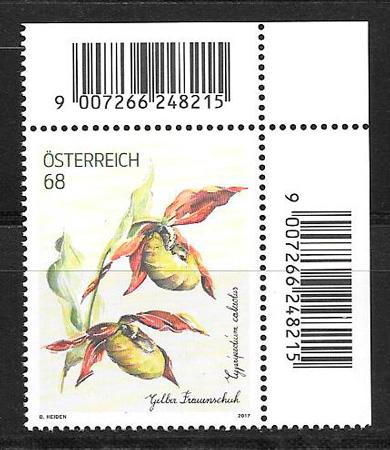 filatelia colección flora Austria 2017