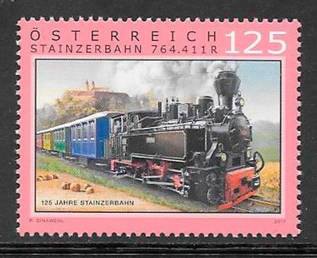 colección sellos trenes Austria 2017