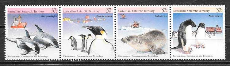 filatelia fauna Australia Territorio Antártico