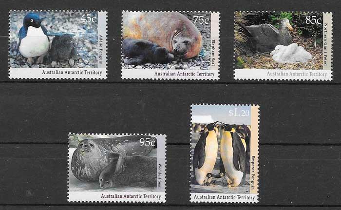 filatelia fauna Australia Territorio Antártico 1992