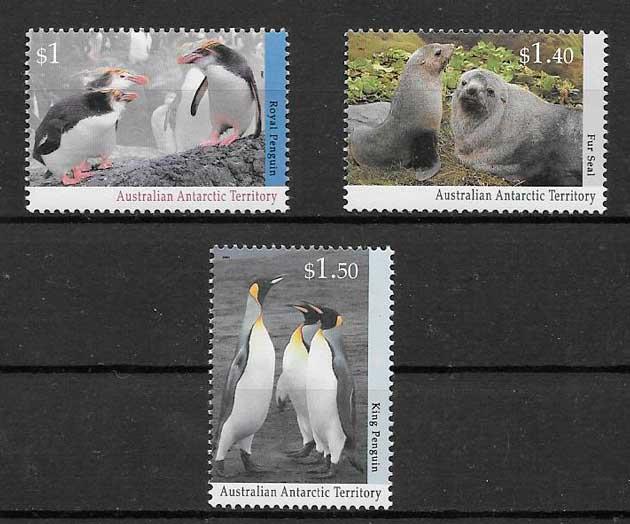 filatelia fauna Australia Territorio Antártico 1993
