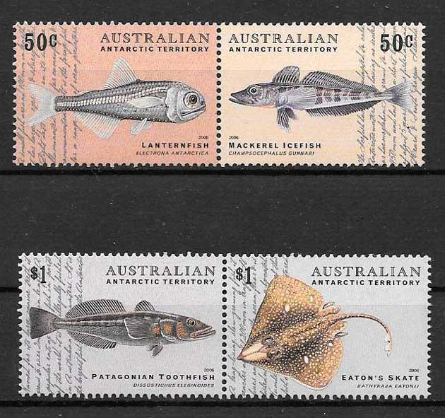 colección sellos fauna Australia Territorio Antártico 2006
