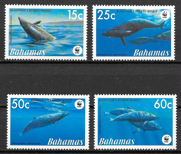 sellos wwf de Bahamas 2007