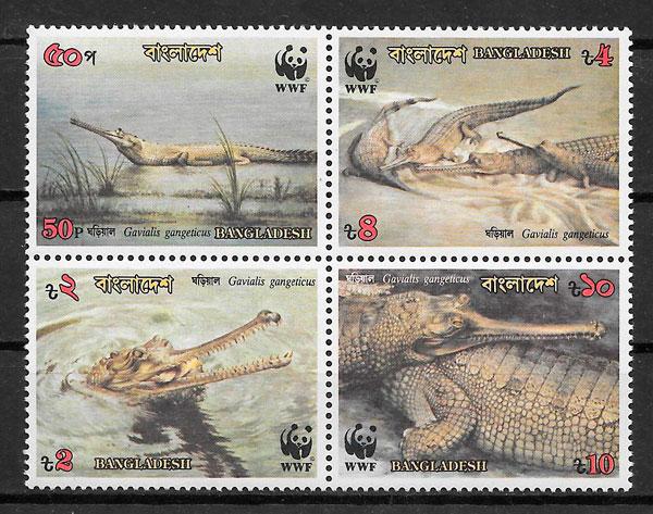 sellos fauna wwf Bangladesh 1995