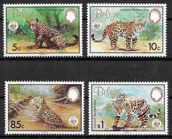 filatelia wwf Belize 1983