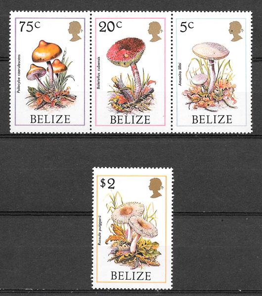 filatelia colección setas Belice 1986