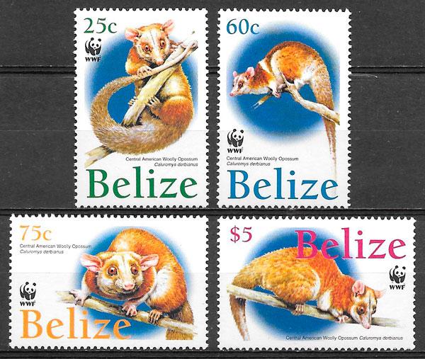 colección selos fauna wwf Belice 2004
