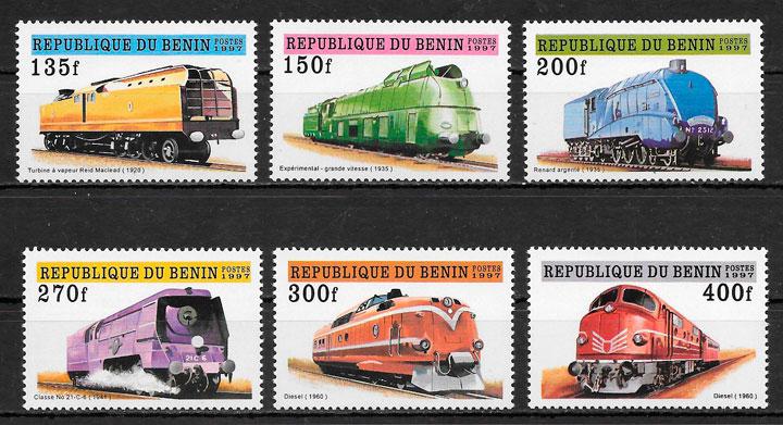 sellos trenes Benin 1997