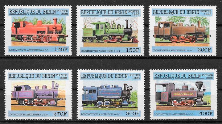 sellos trenes Benin 1998