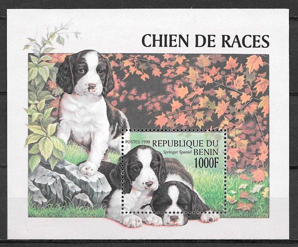 filatelia gatos y perros Benin 1998