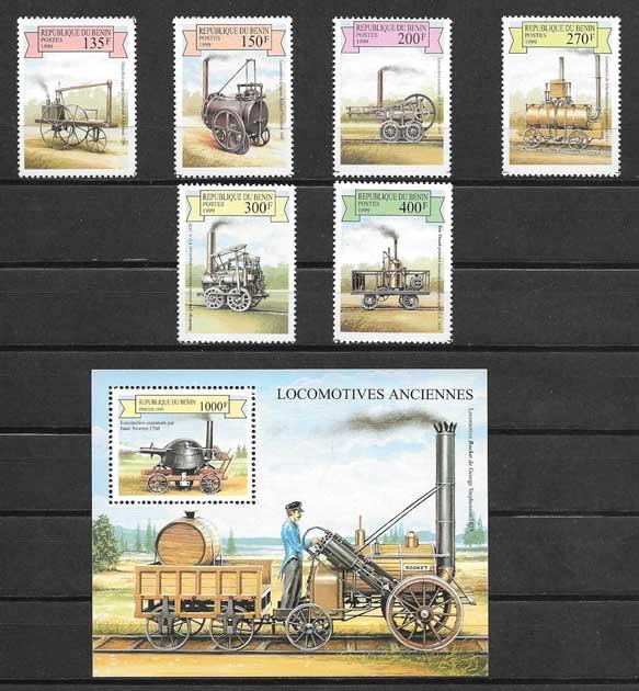 Sellos primeras locomotoras a vapor