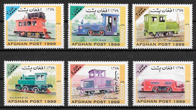 filatelia colección trenes Benín 1999