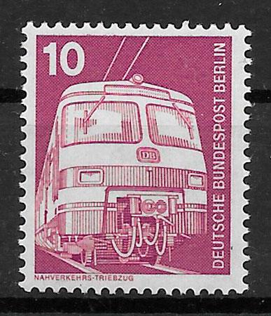 filatelia colección trenes Alemania Berlin 1975
