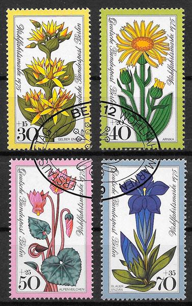 filatelia colección flores Alemania Berlin 1975