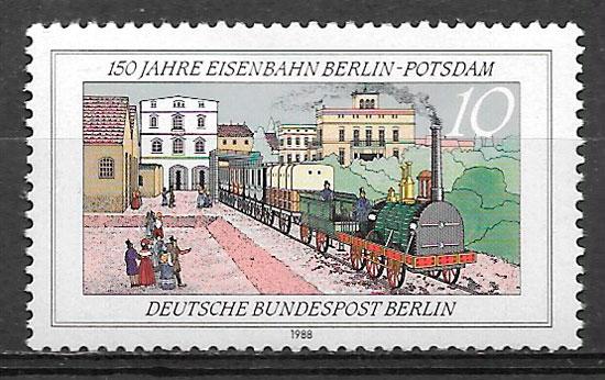 colección selos trenes Berlin 1988