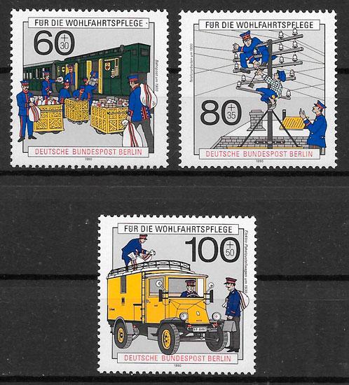 sellos trenes Berlin 1990
