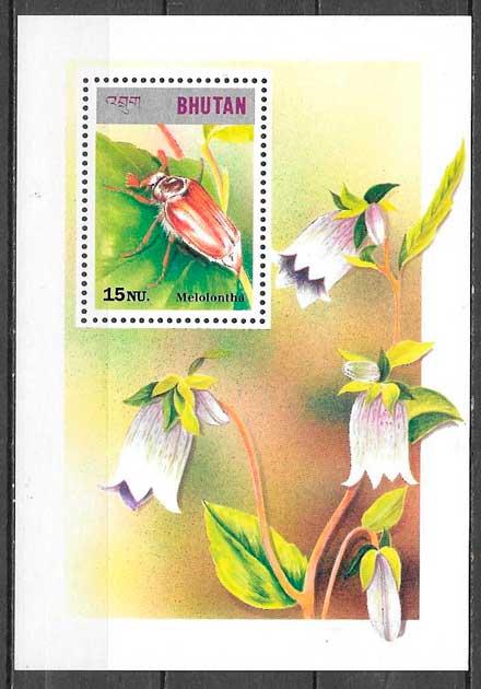 filatelia colección fauna Bhutan 1997
