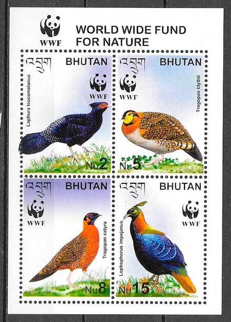 sellos fauna wwf Bhutan 2005