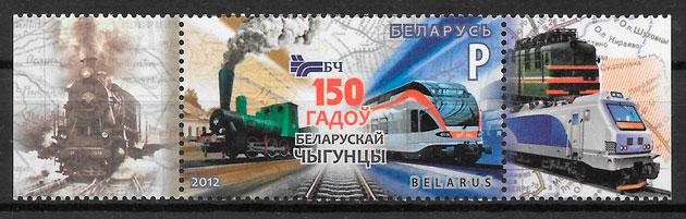 sellos trenes Bielorrusia 2012