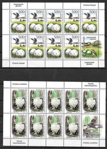 Colección sellos hongos bielorrusia 2010