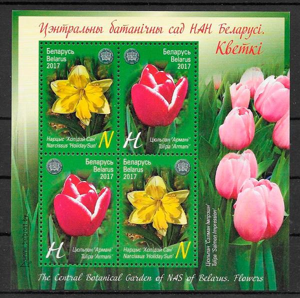 colección sellos flora Bielorrusia 2017