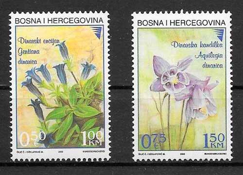 filatelia flora Bosnia Herzegovina
