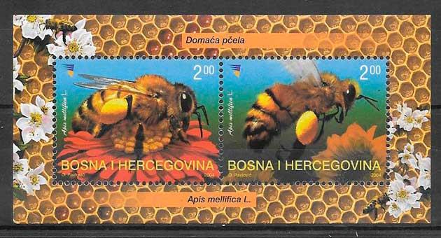 colección sellos fauna Bosnia Herzegovina 2004