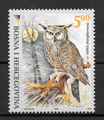 sellos fauna Bosnia Herzegovina 2008