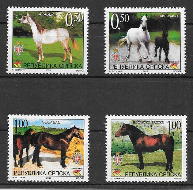 sellos fauna Bosnia Herzegovina Rep Serbia 2003