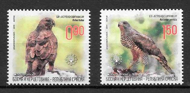 colección sellos fauna Bosnia Herzegovina Rep Bosnia 2011