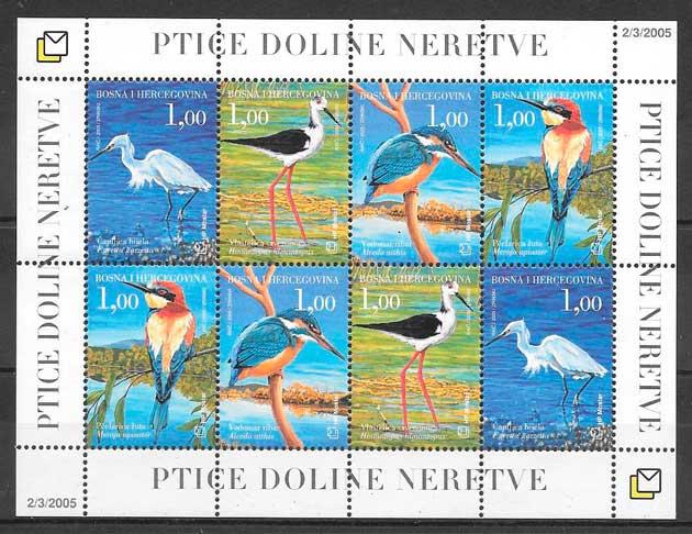 colección sellos fauna Bosnia Herzegovina Herceg Bosna 2005