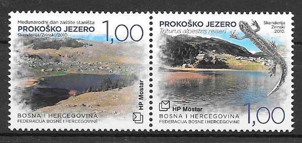 colección sellos fauna 2010 Bosnia herzegovina Herceg Bosna